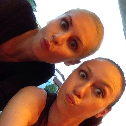 Alexandrina and I practicing our best pouts before the show.