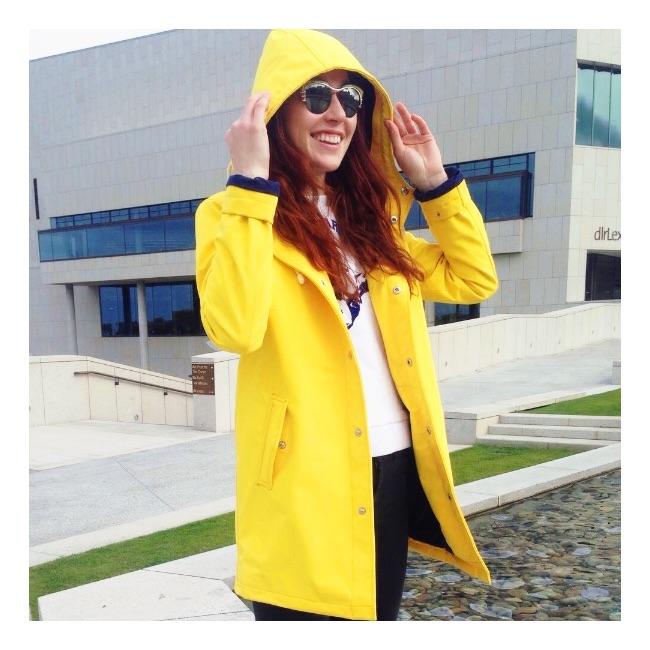 Ember&Earth yellow rain jacket