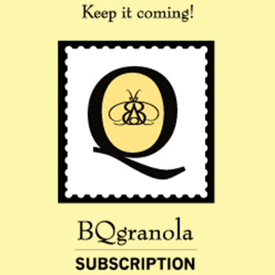 Sign up for a monthly subscription and get fresh granola delivered to your door!