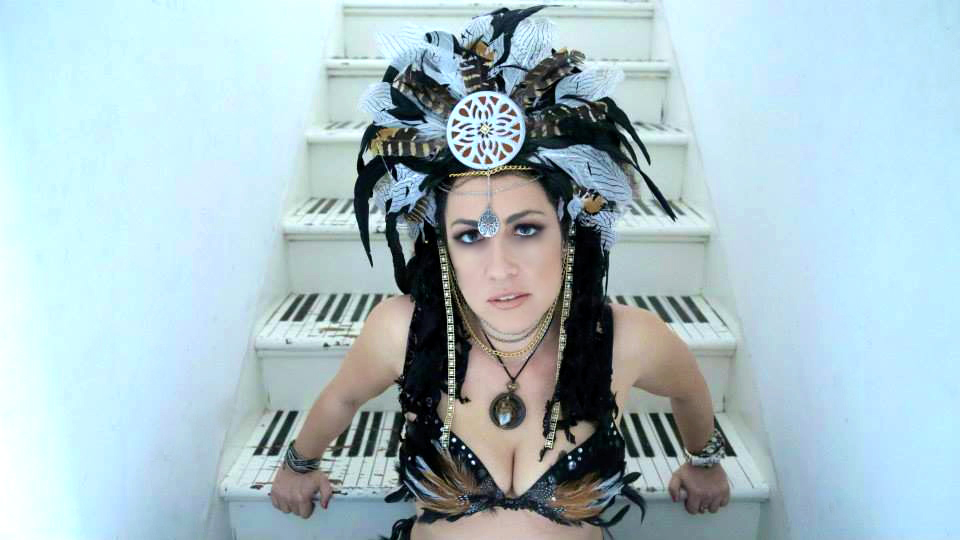 """Photo still from """"Lion Queen"""" Music Video by Jose Lozano. Outfitted by Nessa Eddy Reed"""