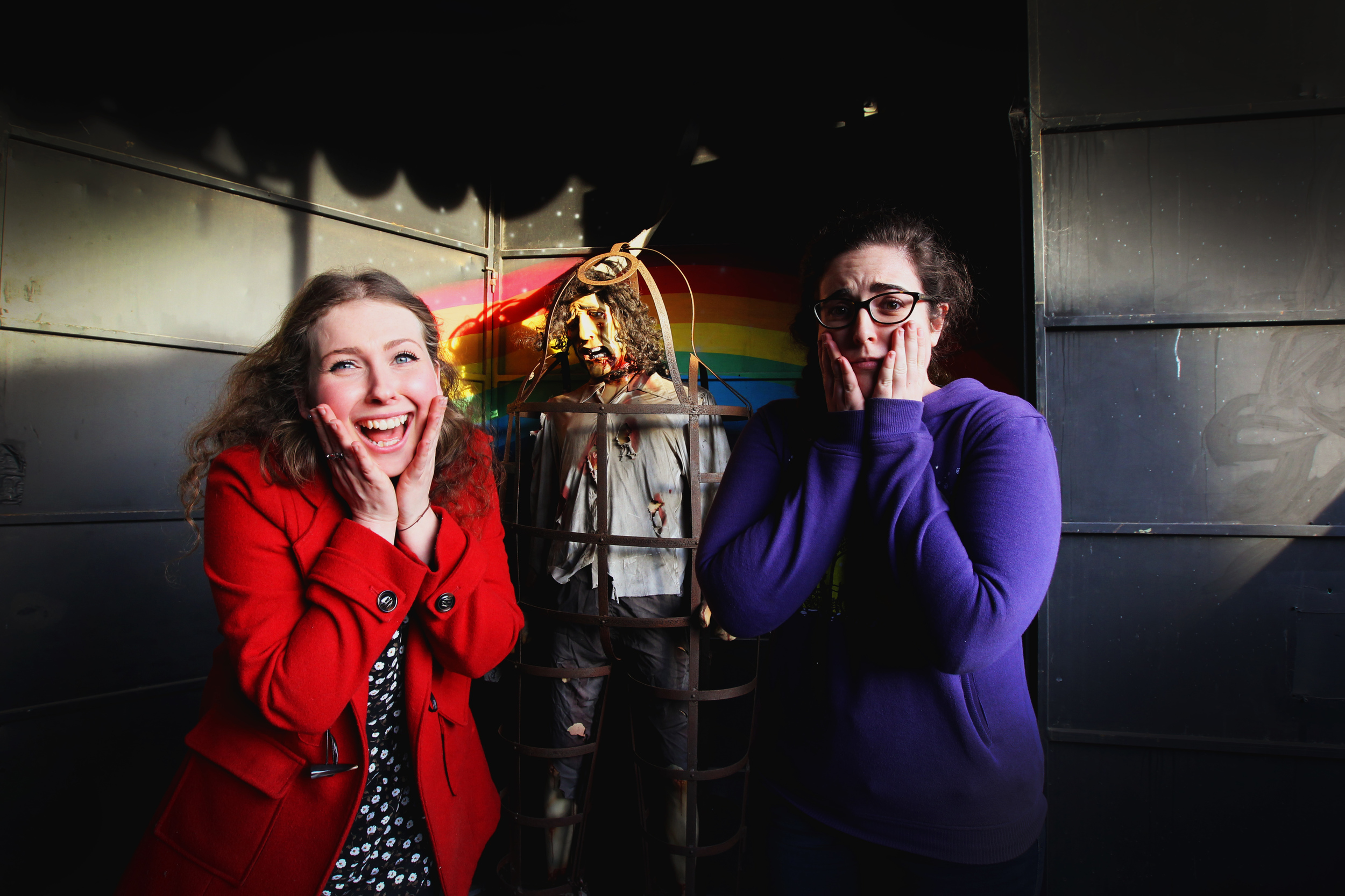 Organisers Brittany D'Chong and Natalie Wadwell of the Winter Wonderland arts festival held at Adventure Land in Edmonson Park. Picture: Simon Bennett (Bennett Photography)