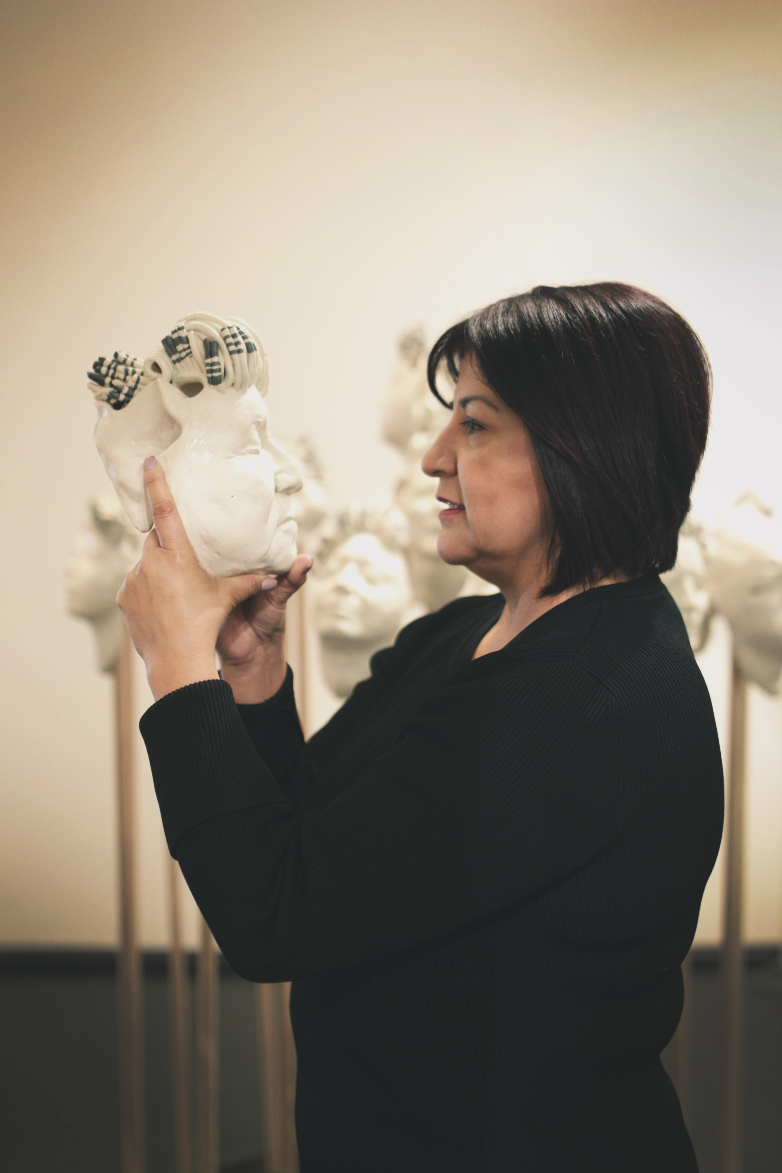 Chilean artist Cecilia Castro will have her art exhibited at the gallery and host a ceramics workshop.