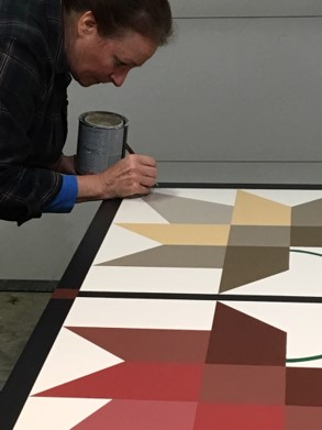 MAPLE LEAF Barn Quilt - Finishing Touch Up!