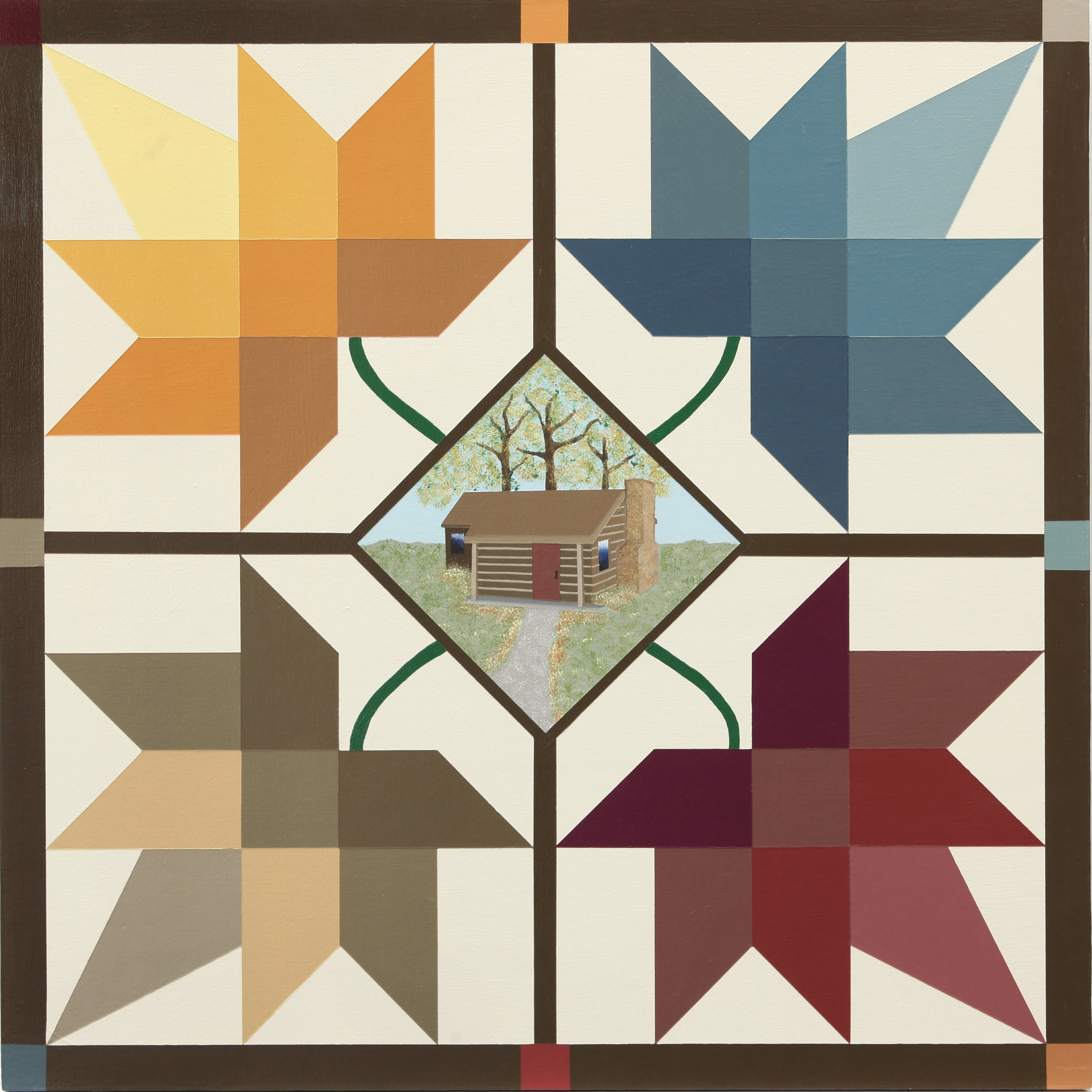 CABIN IN THE MAPLES Barn Quilt