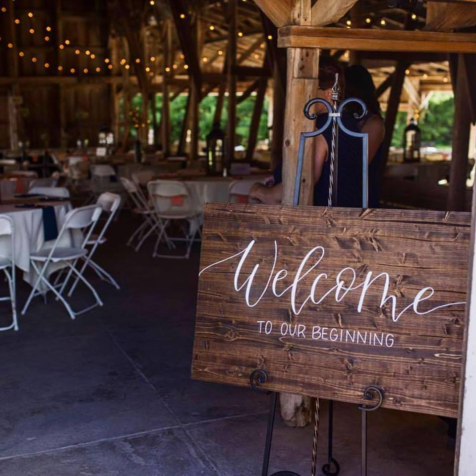 welcome wedding sign wood sign calligraphy hand lettering