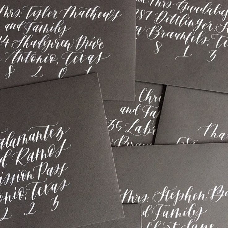 wedding stationery semi-custom invitations calligraphy envelope calligraphy