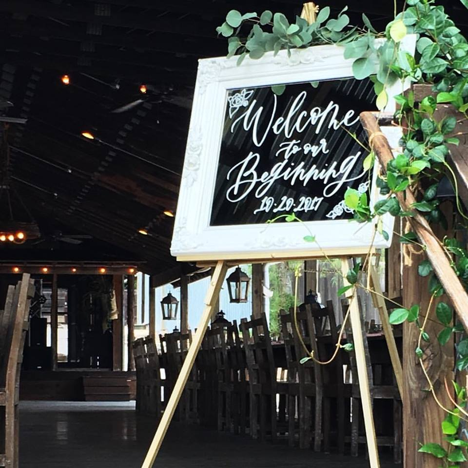 welcome wedding sign mirror sign calligraphy hand lettering