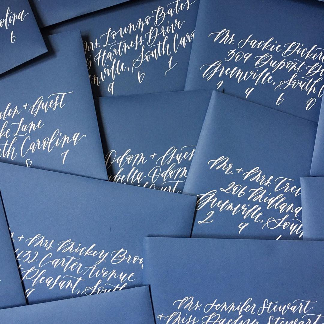 envelope calligraphy, wedding invitations, wedding stationery, wedding inspiration