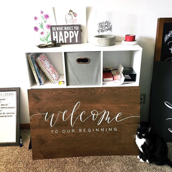 welcome sign, wedding sign, signage, custom wedding sign, hand lettering, calligraphy