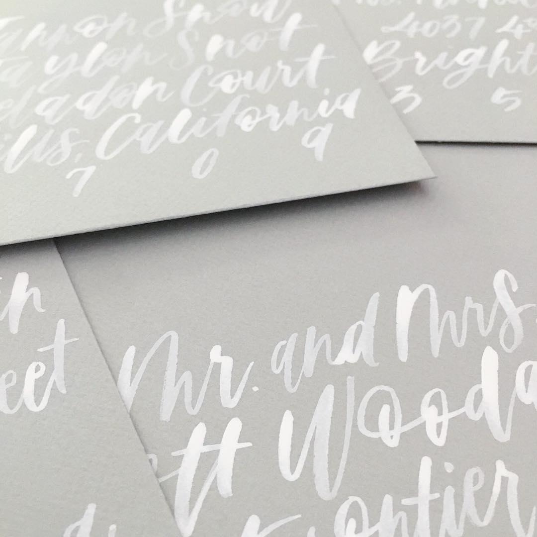 wedding stationery, wedding invitation, brush lettering