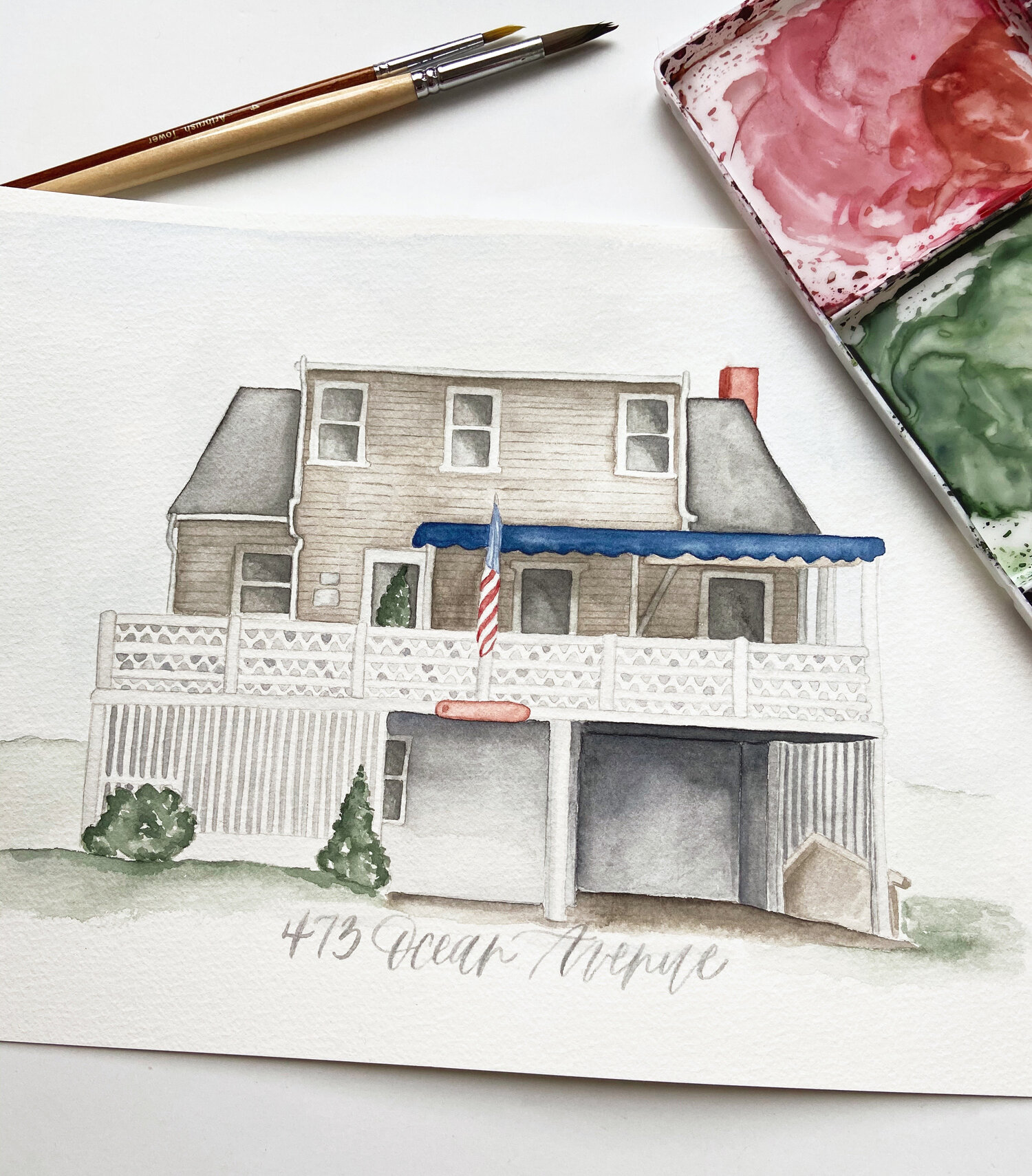 Custom Watercolor Painting watercolor illustration portrait painting from photo house painting