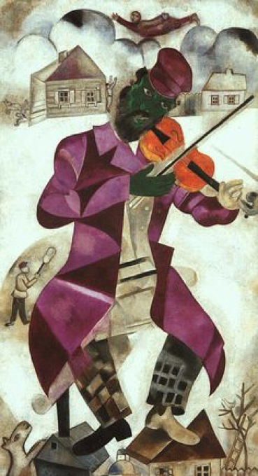 Chagall, le violoniste vert