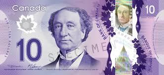 John A. Macdonald sur un ancien billet de 10$