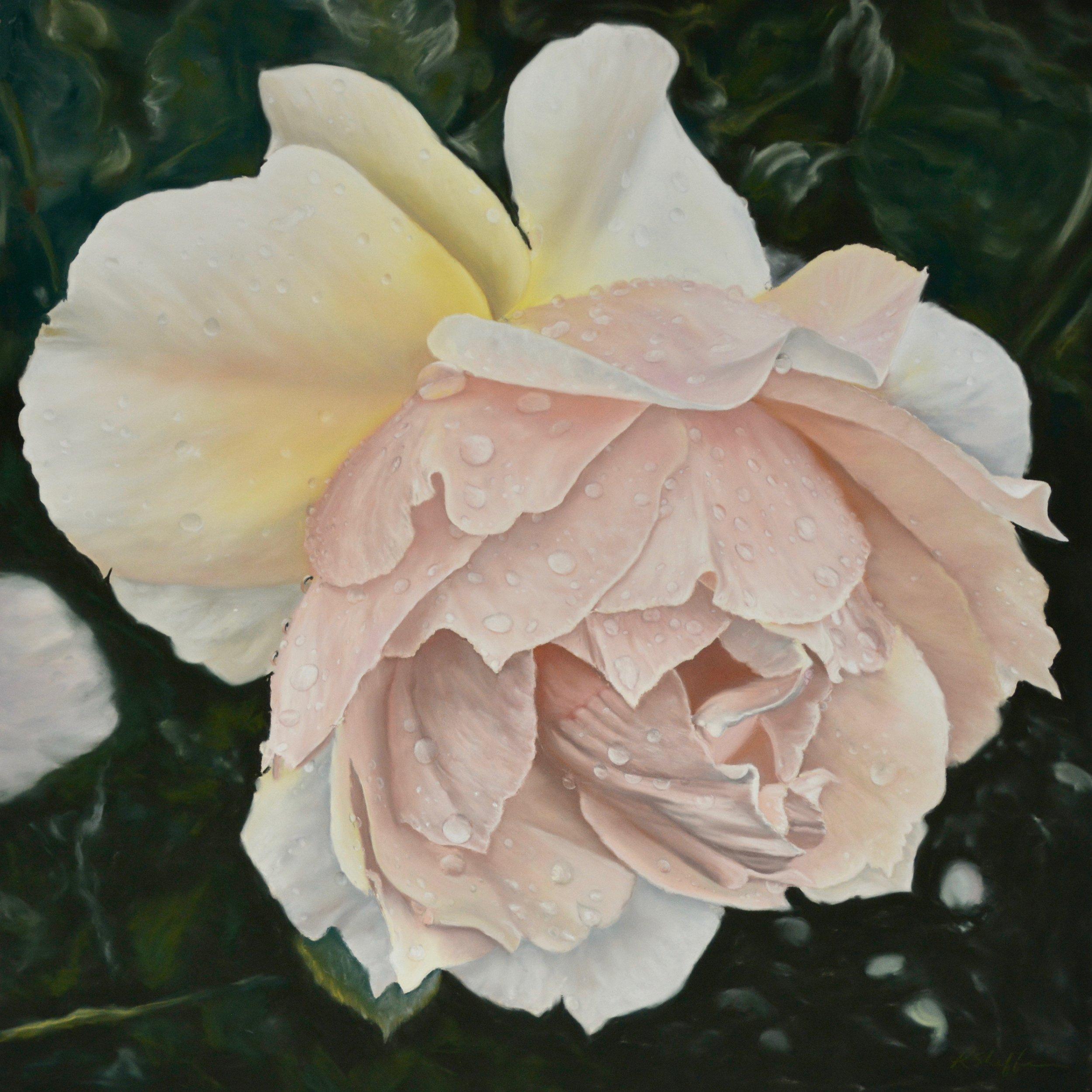 """Grace, 20x20"""", pastel on paper, 2018"""