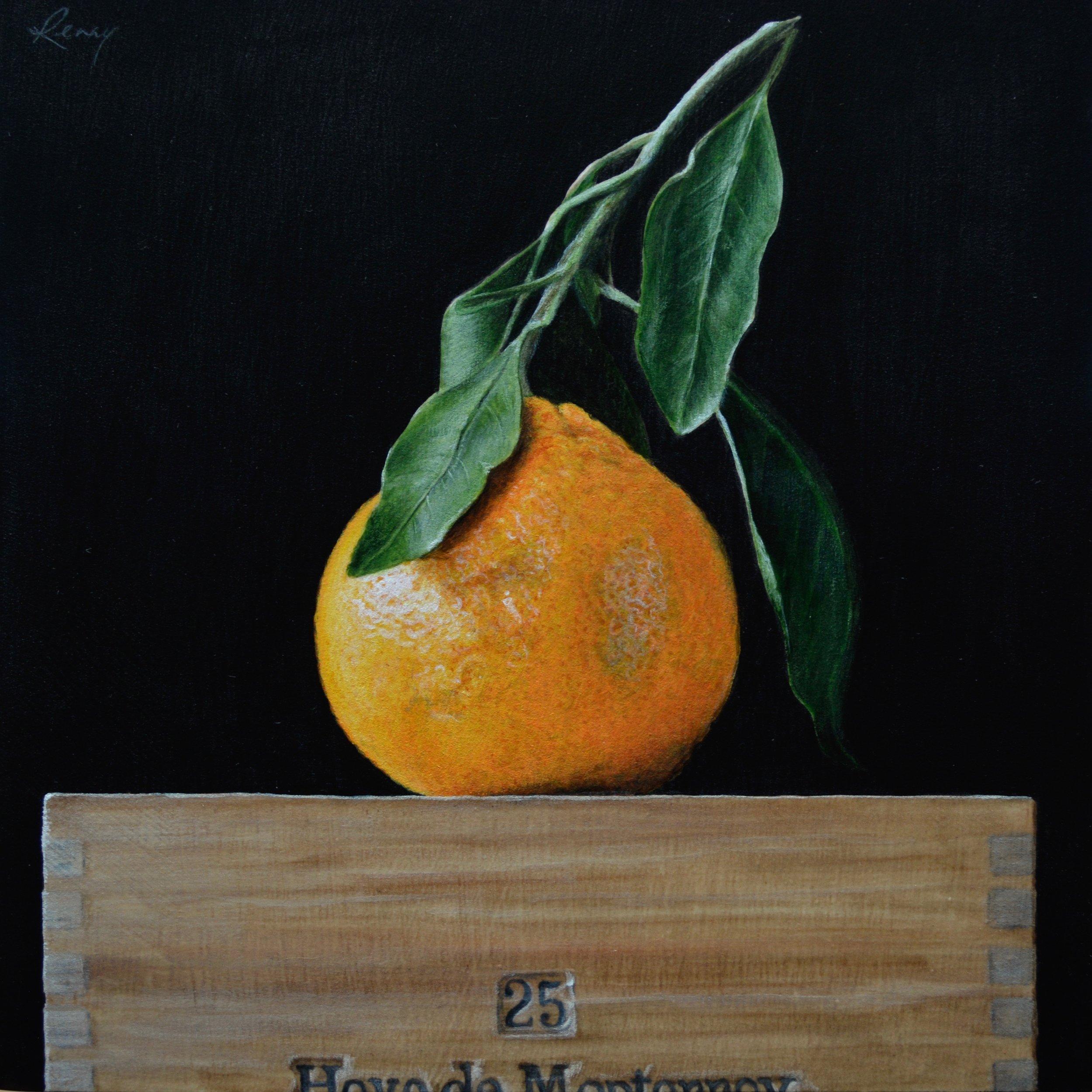 "Remembrance, 8x8"", acrylic on wood, 2018"