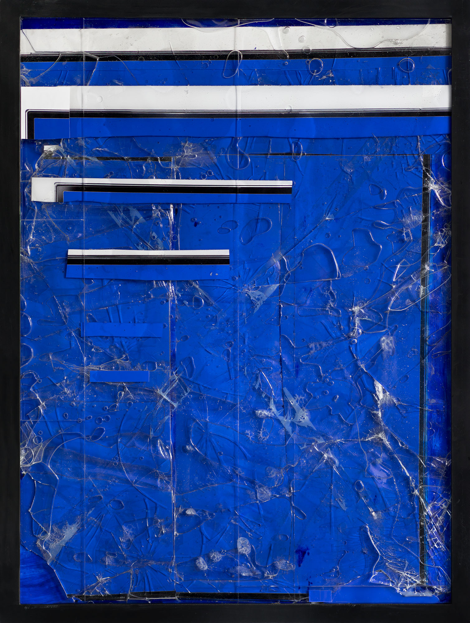 Steel/Glass 31 (Blue Screen) - 36 x 48 inches, 2015