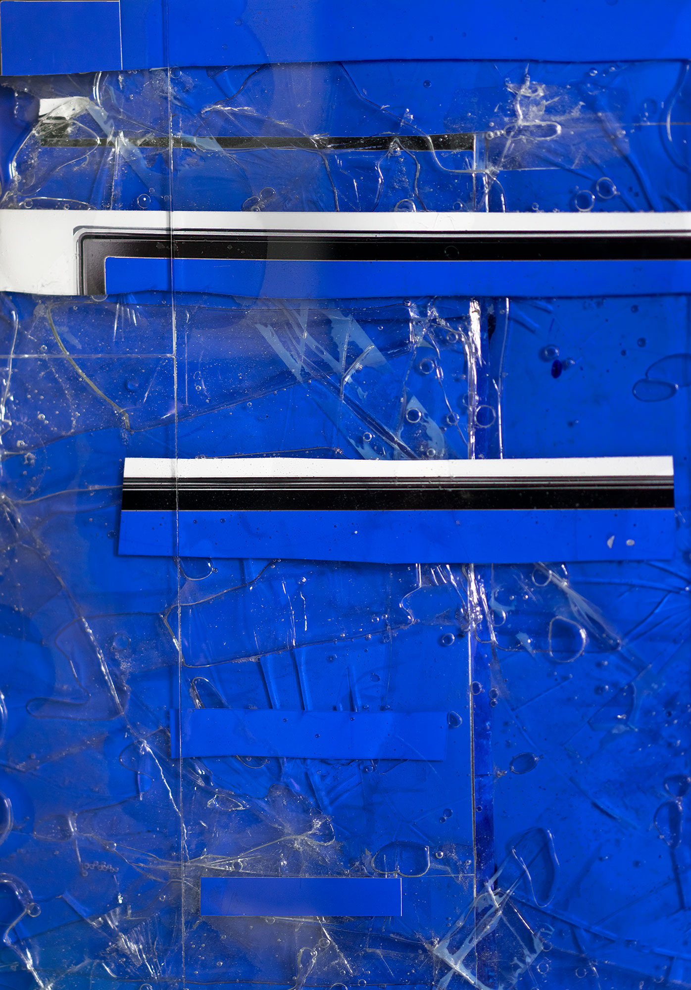 Steel/Glass 31 (Blue Screen) - 36 x 48 inches, 2015. Detail I