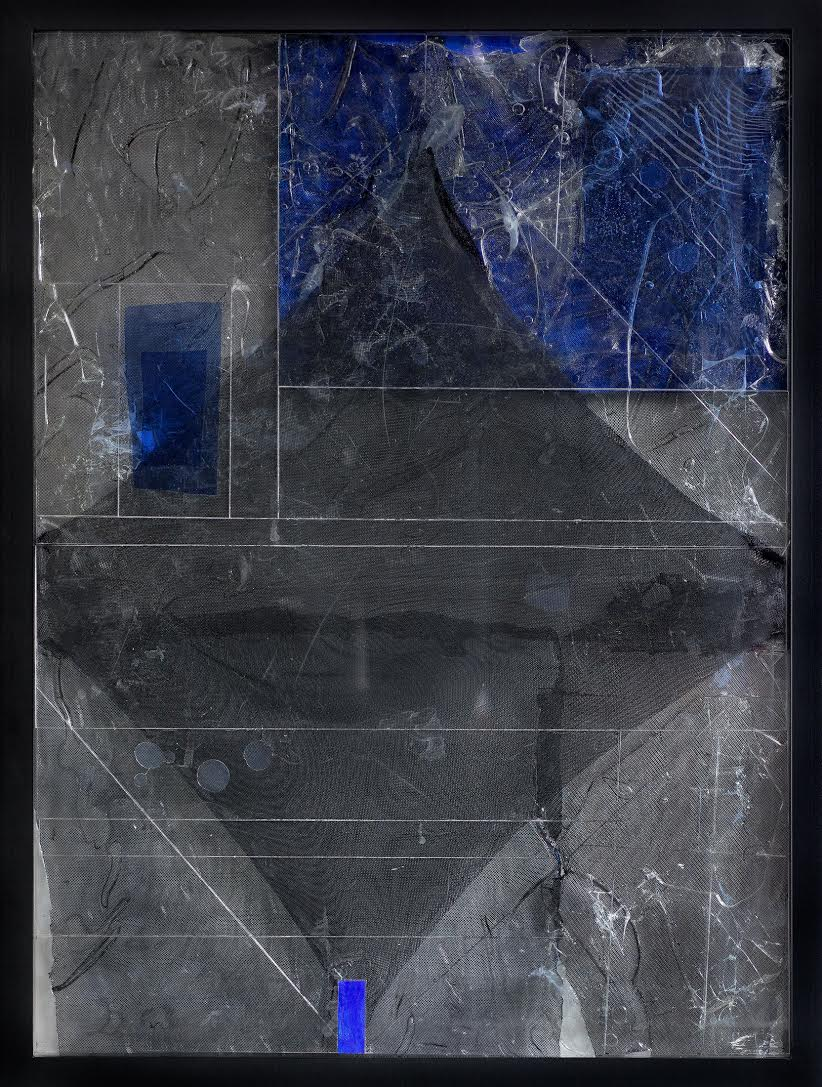 Steel/Glass 30 (Screen/Void) - 36 x 48 inches, 2015