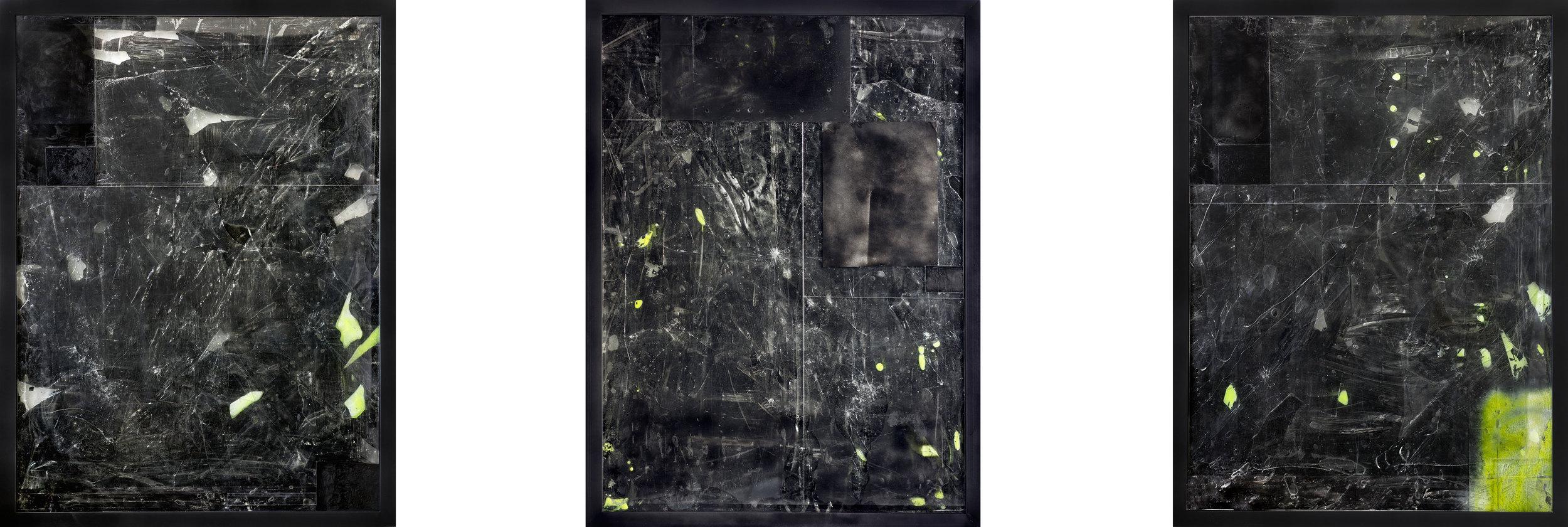 Triptych - 36 x 48 inches each, 2015.