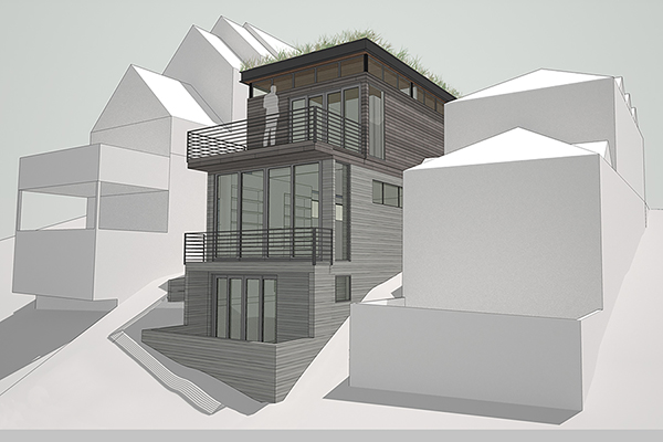 Park City Ski Residence Rear Perspective Rendering
