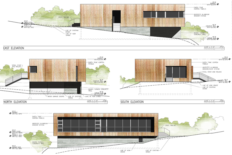 Emigration Canyon Residence Architectural Elevation Drawings