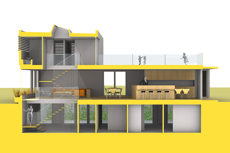 Daybreak Residence Architectural Section