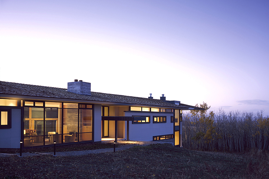 Wyoming Canyon Residence Home in the Landscape Evening