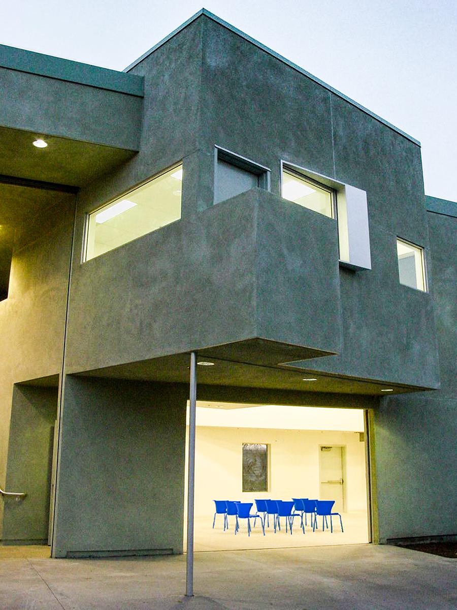Reggie Rodriguez Community Center Multipurpose Space from Exterior