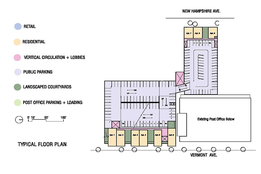 Los Feliz Mixed Use Housing Upper Level Floor Plans