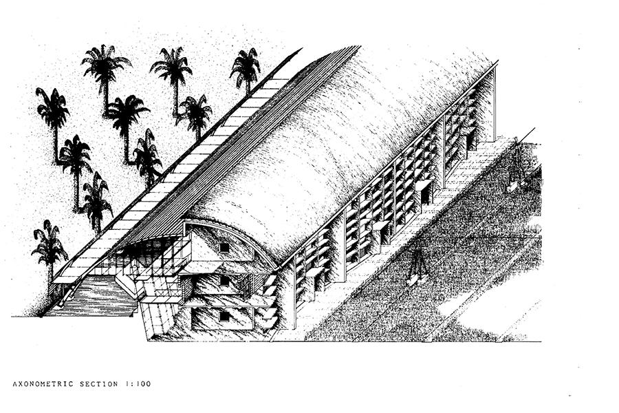 Barcelona Agricultural Museum Axonometric Elevation