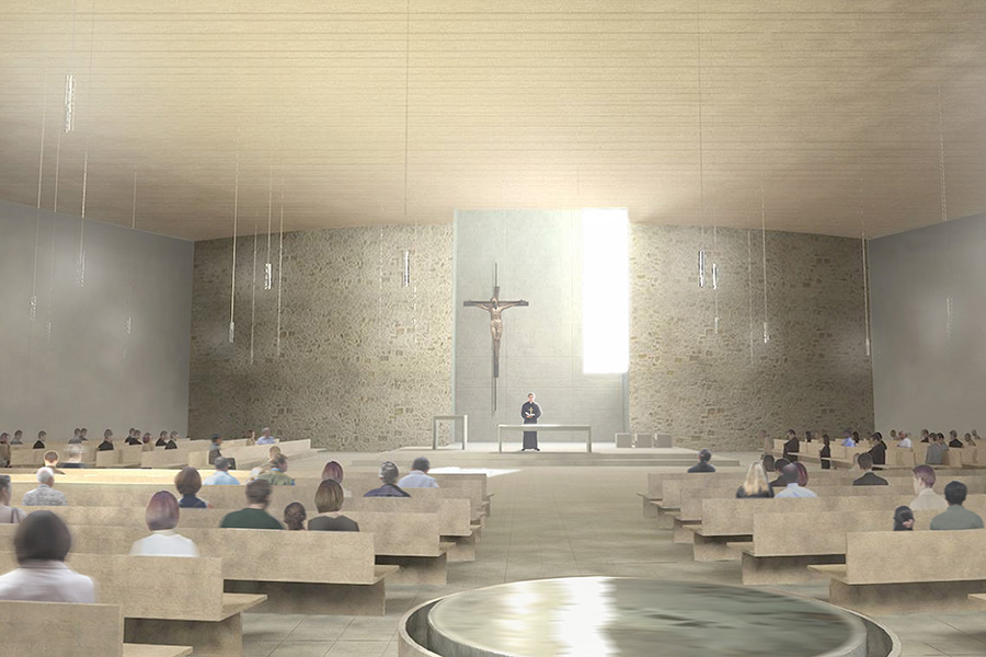 St. Francis of Assisi Interior Worship Space Rendering