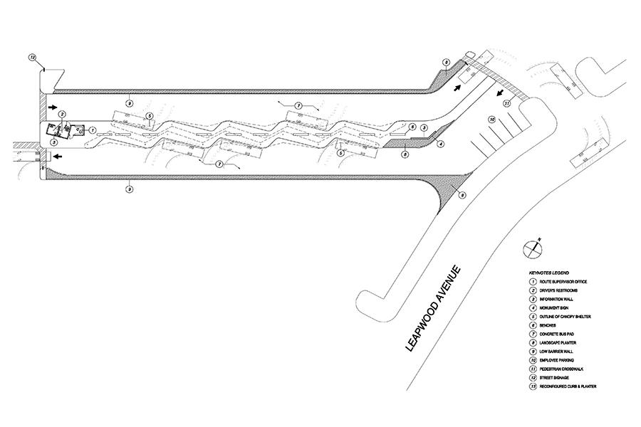 South Bay Pavilion Transit Center Program and Floor Plan