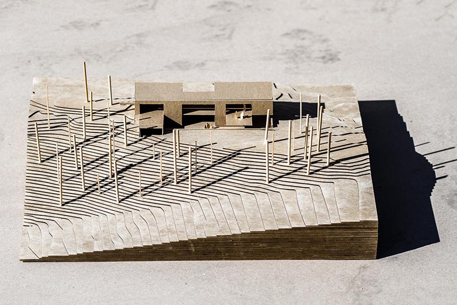 Mountain Modern Ski Homes Scale Model of a home at Sundance in Utah
