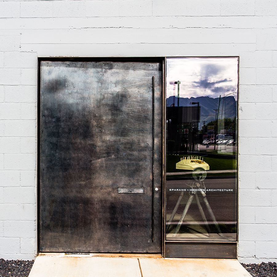 Creative Studios Office Renovation Steel Door and Office brand for the new Sparano + Mooney Architecture Space
