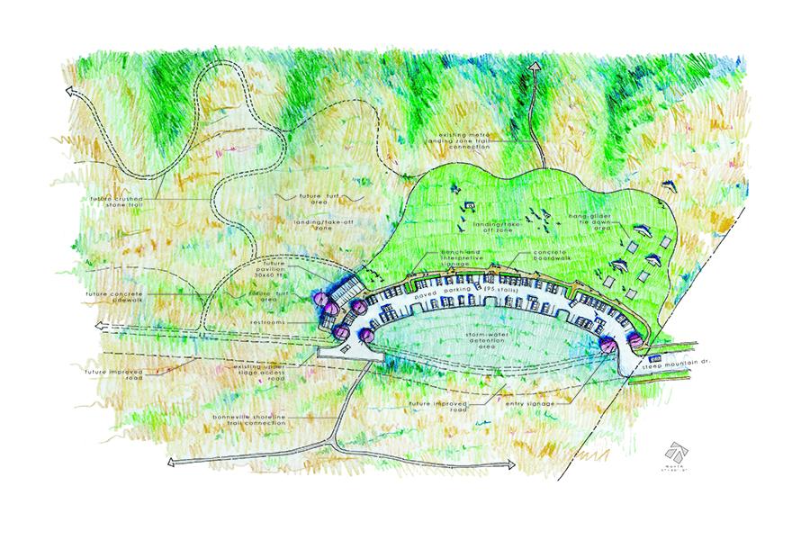 Salt Lake County Flight Park Site Plan Illustration