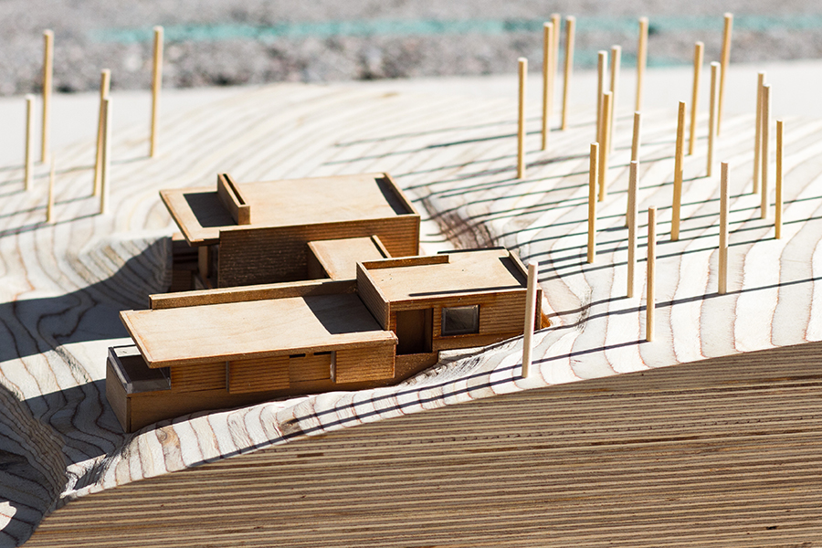 Park City Modern Residence Aerial View of Scale Model