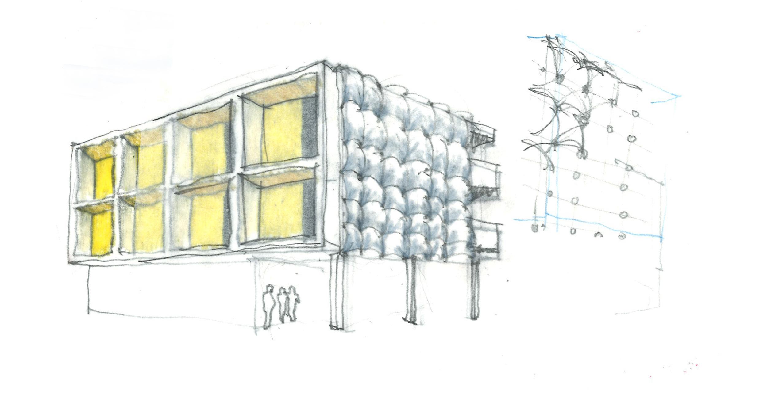 Sparano Mooney Architecture_Central 9_Process_Sketch_Facade_High Density.jpg