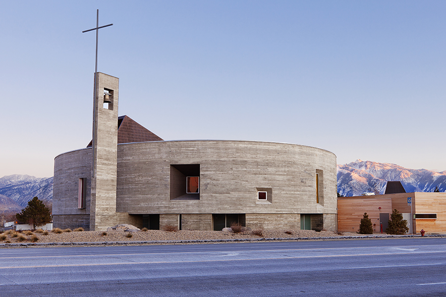 Sparano Mooney Architecture_Saint Joseph the Worker_Exterior from Redwood.jpg