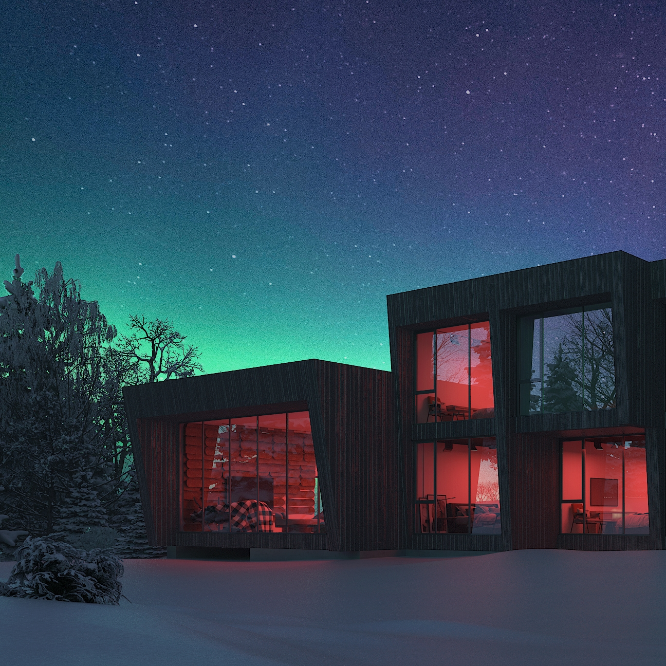 SparanoMooney Architecture_Northern Lights Lodge_Night 2.jpg