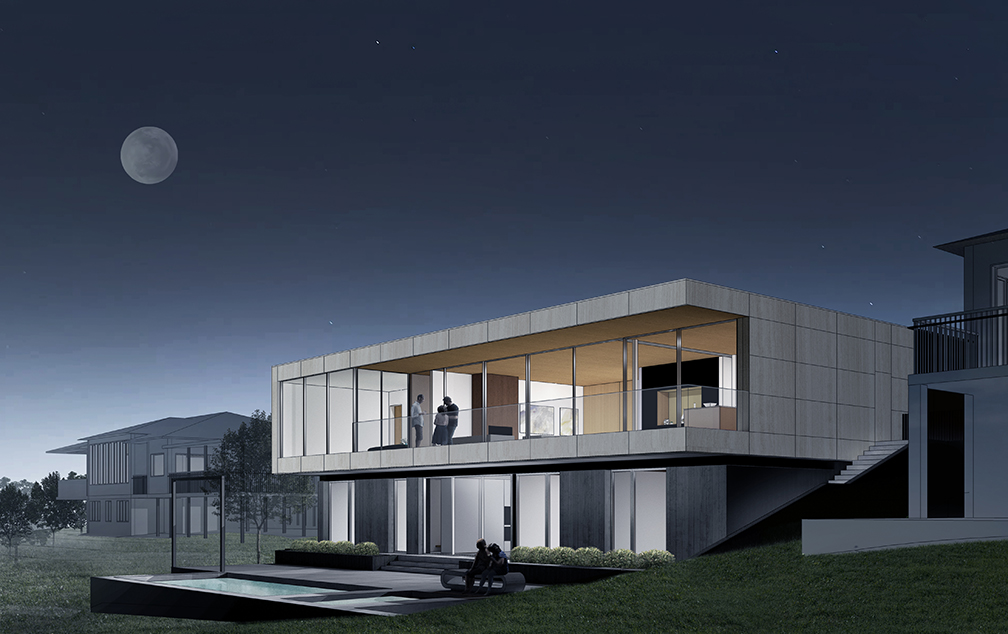 SparanoMooneyArchitecture_Chandler Residence_Night Rendering3.jpg