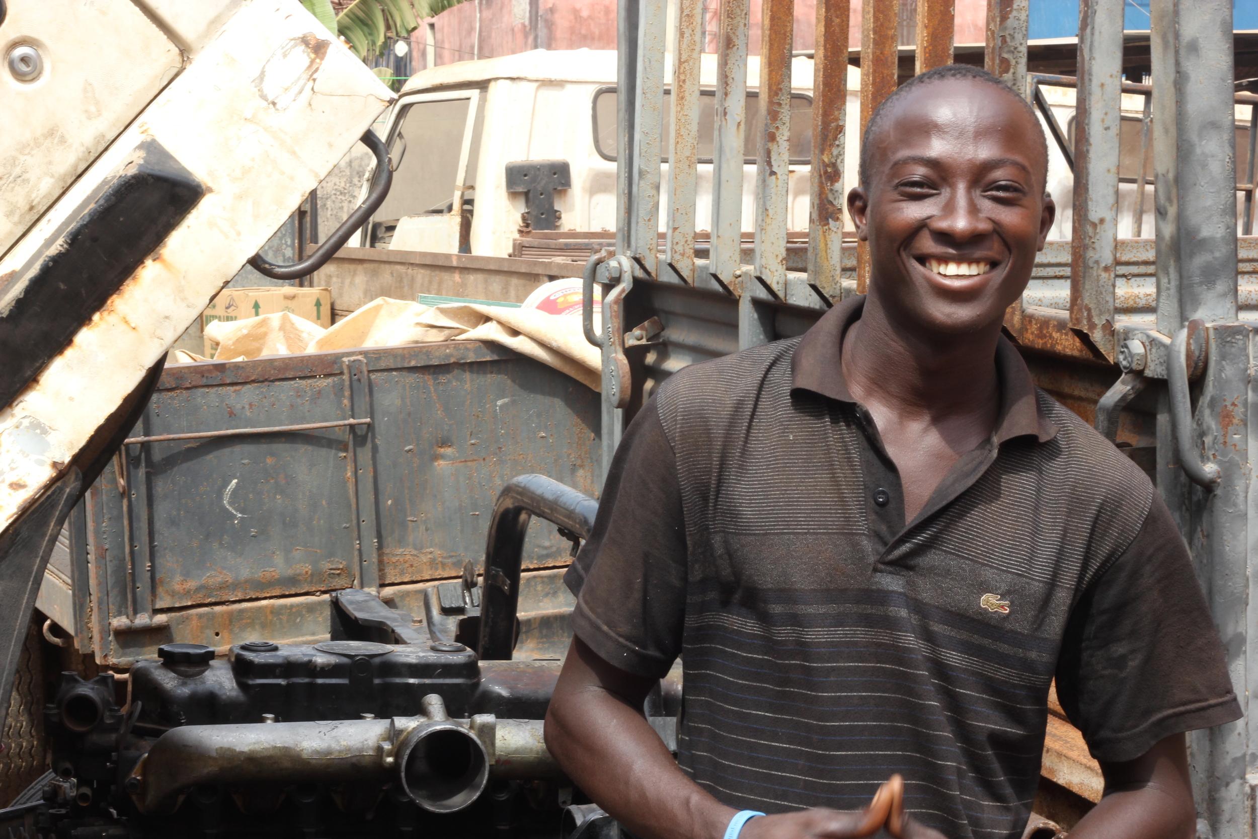West African Vocational Schools Auto Mechanics student