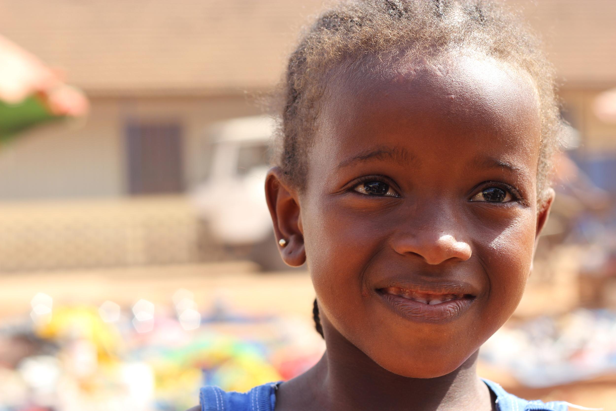 Little girl in Guinea Bissau West Africa