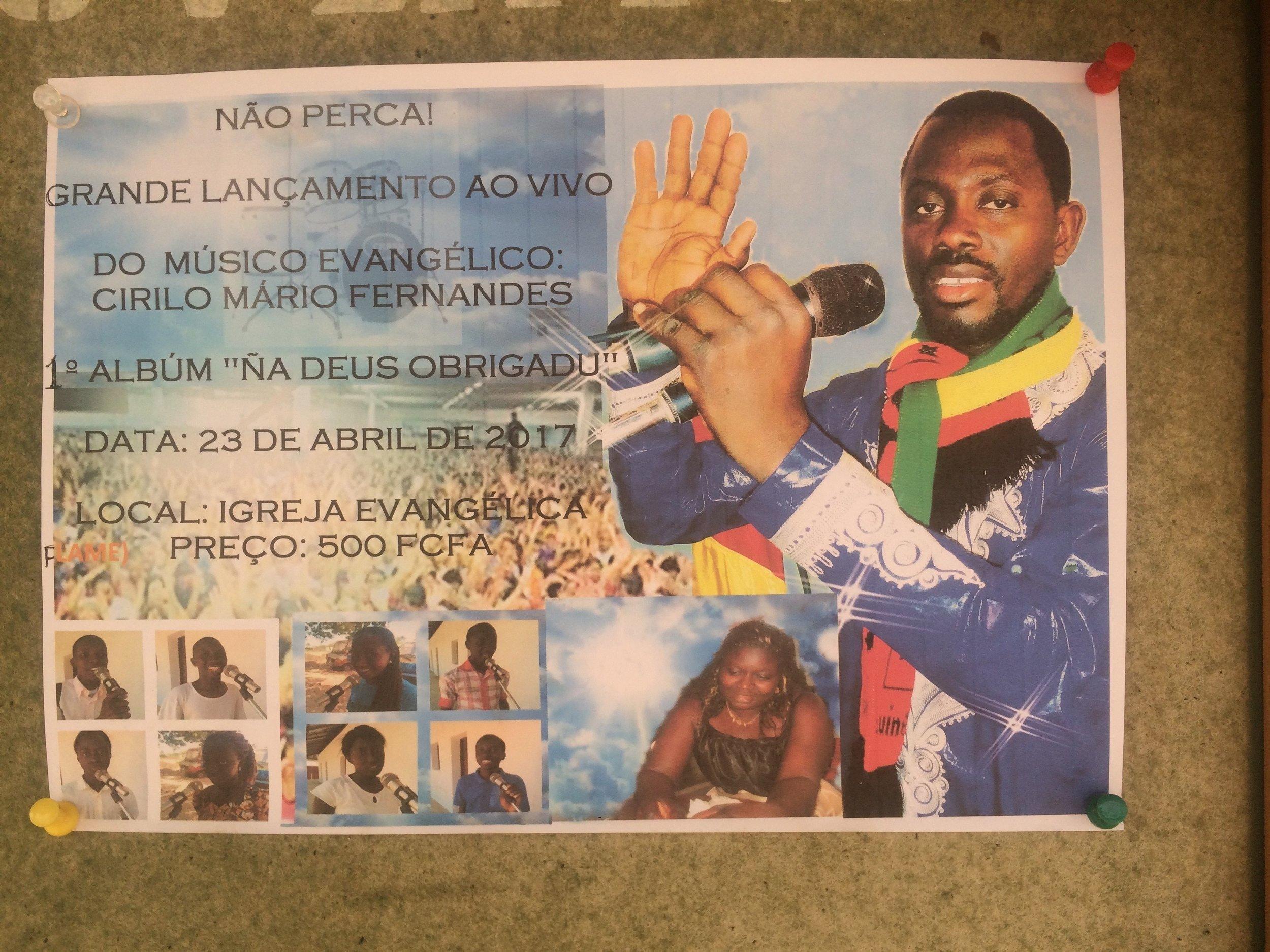 Cirilo's album release and concert flier.