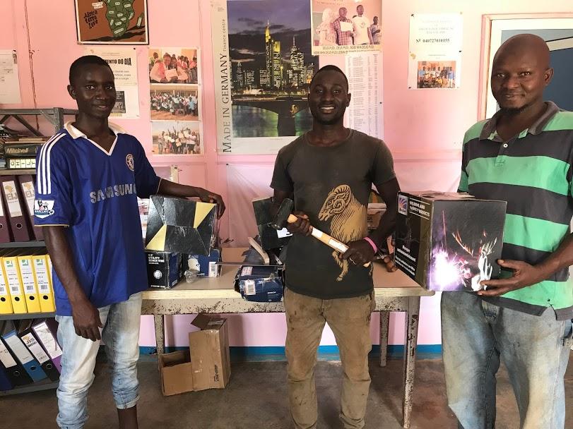 Left to Right: Erikson, Nilton & Sergio receiving their starter kits through the WAVS New Entrepreneurs Program.