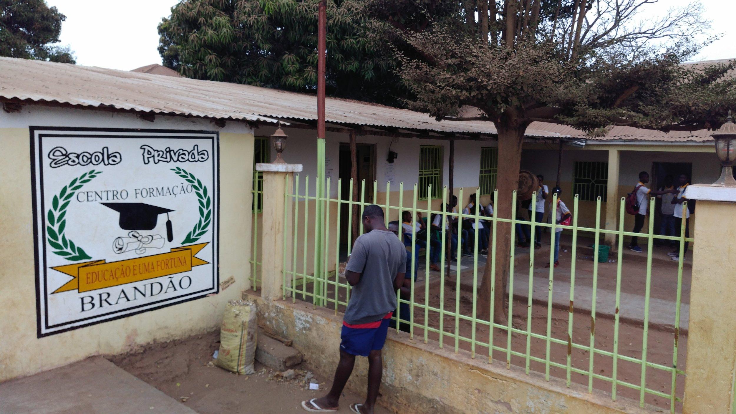 The private school in Bissau where Vasco teaches.