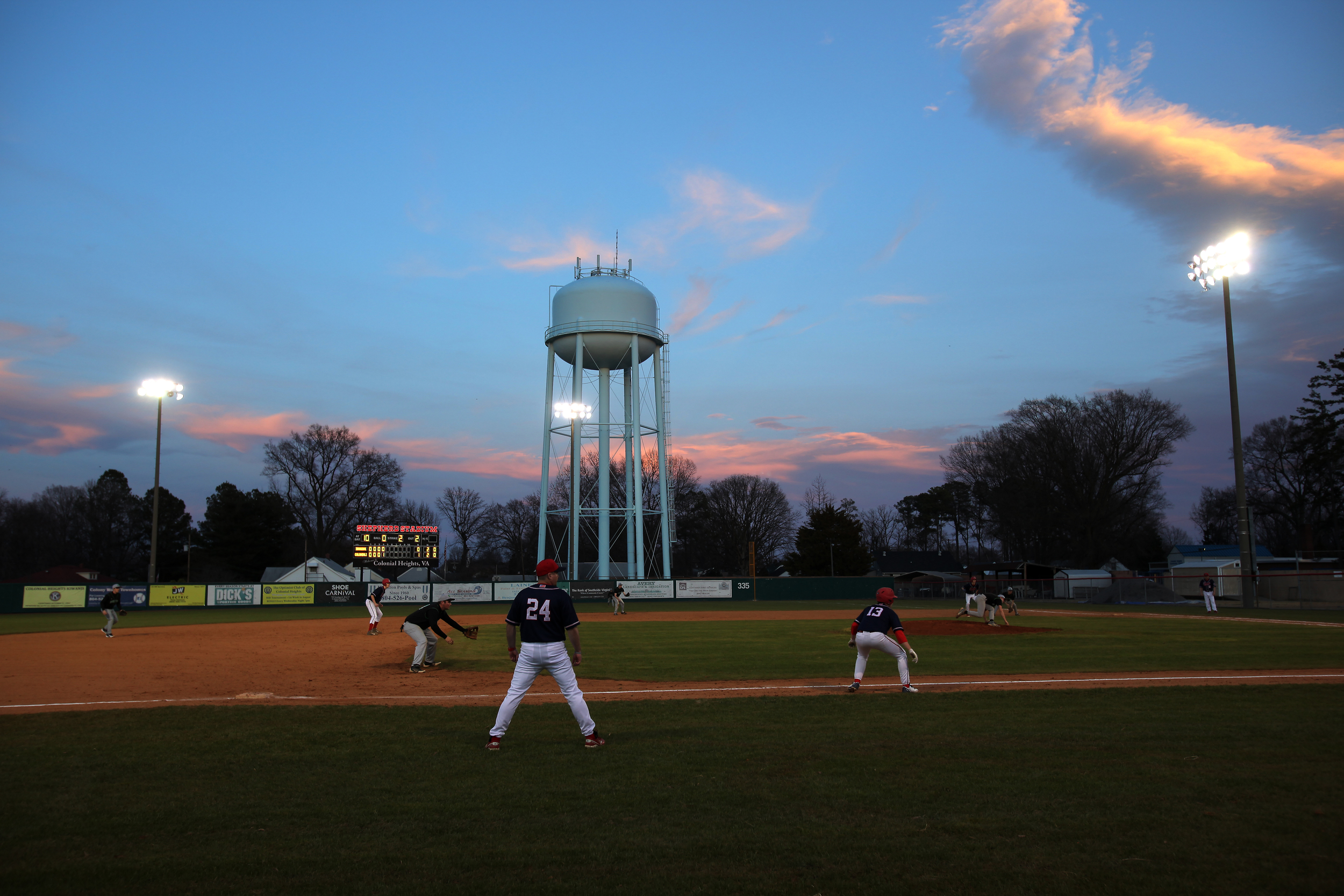 Opening night at Shepherd Stadium in Colonial Heights in early March.
