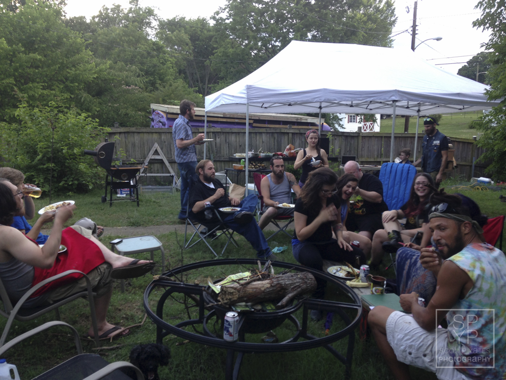 The Party Liberation Front family gathers for a barbecue and beer in honor of Dale's 30th birthday.