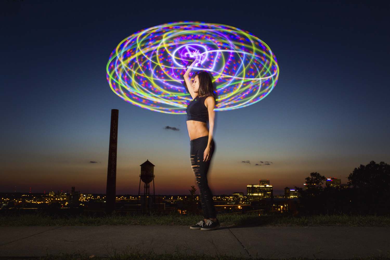 Marlene hoops at Libby Hill park in Richmond, Va., on Sunday, September 3, 2017. [Photograph by Scott P. Yates]