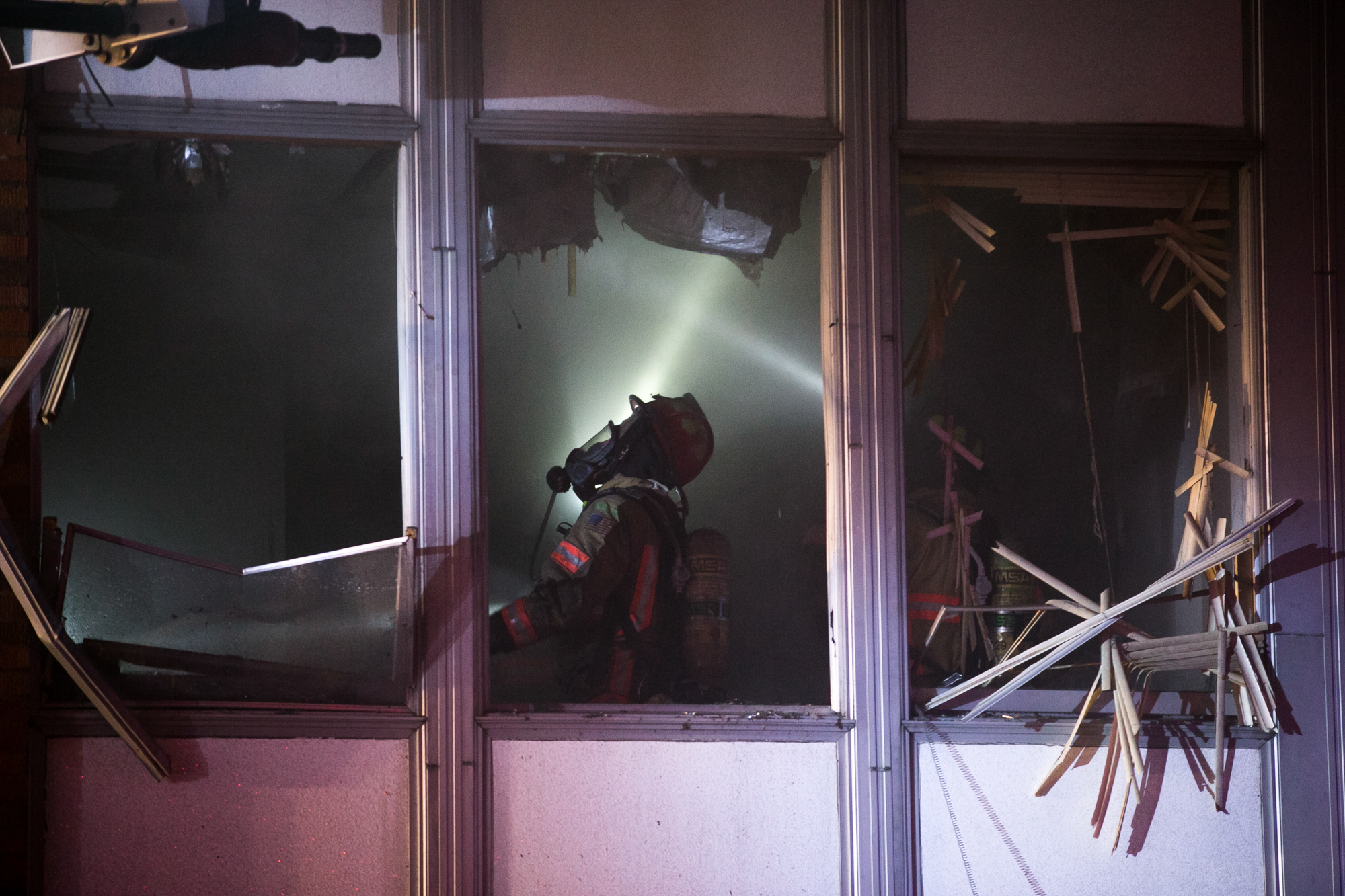 Rockford firefighters knock down a fire in the blighted former nursing home on Saturday, Dec. 15, 2018, at 1920 North Main Street in Rockford. [SCOTT P. YATES/RRSTAR.COM STAFF]