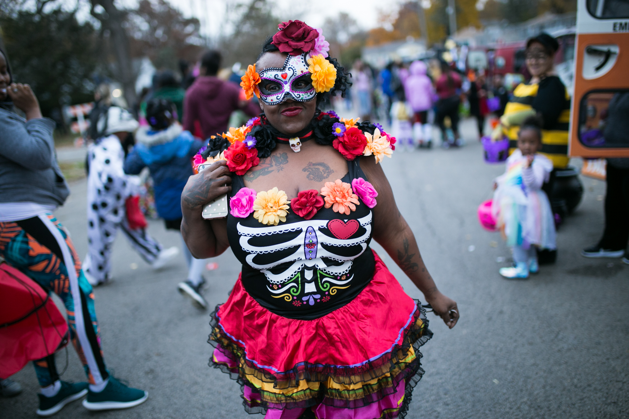 Andrews Park neighborhood families participate in their trunk-or-treat event on Wednesday, Oct. 31, 2018, at Andrews Park in Rockford. [SCOTT P. YATES/RRSTAR.COM STAFF]
